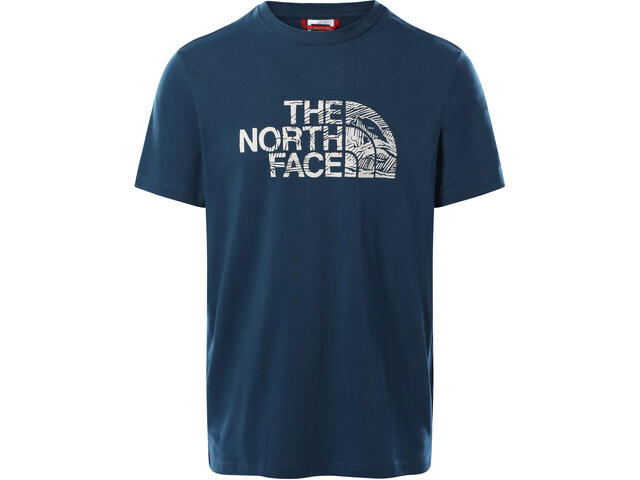 The North Face Woodcut Dome SS Tee Men, monterey blue